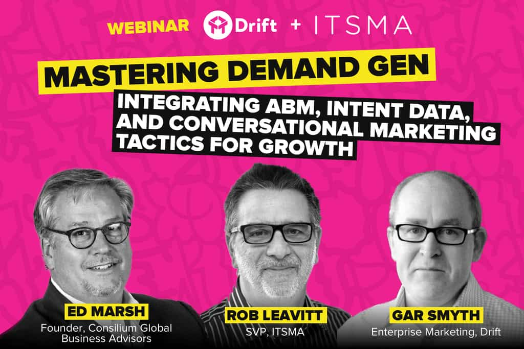 drift intent data abm conversational marketing webinar