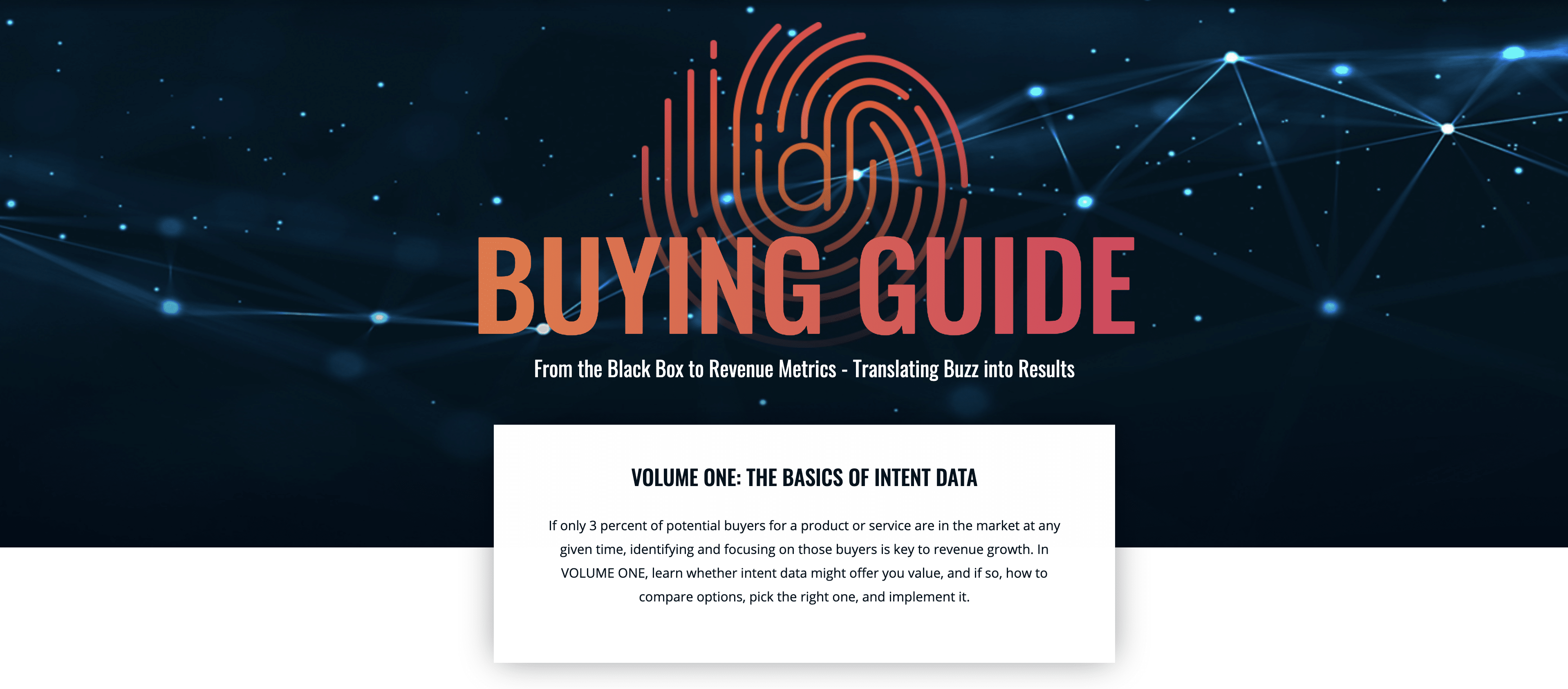Complete blueprint to researching, buying and activating purchase intent data