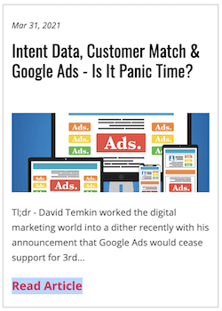 IntentData.io's contact level™ third party purchase intent data can supplement first party data for post cookie paid ad targeting
